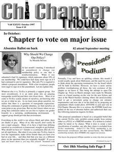 Chi Chapter Tribune Vol. 36 Iss. 10 (October, 1997)