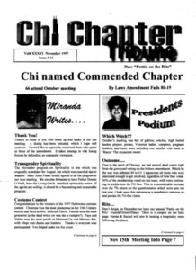 Chi Chapter Tribune Vol. 36 Iss. 11 (November, 1997)