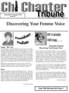 Chi Chapter Tribune Vol. 36 Iss. 09 (September, 1997)
