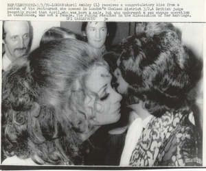 April Ashley Receives a Congratulatory Kiss (March 3, 1970)