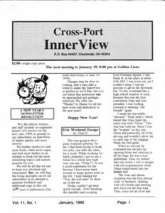 Cross-Port InnerView, Vol. 11 No. 1 (January, 1995)