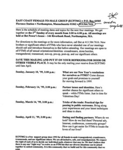 January, 1999 - April, 1999 Meeting Reminder