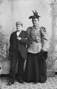 Marie Høeg and an Unknown Individual Crossdressed