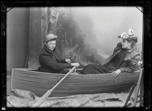 Marie Høeg and an Unknown Person on a Boat