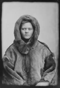 Marie Høeg Dressed in Full Fur Attire