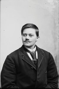 Marie Høeg In a Suit with a Mustache