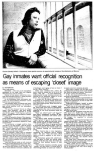 Gay Inmates Want Official Recognition as Means of Escaping 'Closet' Image
