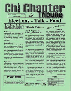 Chi Chapter Tribune Vol. 36 Iss. 03 (March, 1997)