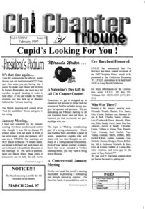 Chi Chapter Tribune Vol. 36 Iss. 02 (February, 1997)