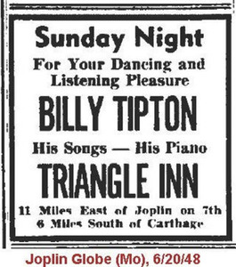 Billy Tipton: His Songs - His Piano