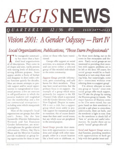 AEGIS News, No. 9 (December, 1996)