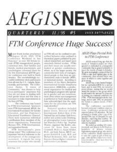 AEGIS News, No. 5 (November, 1995)