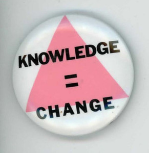 Knowledge = Change Pin
