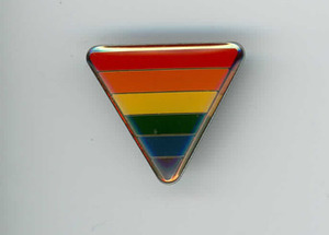 Rainbow Triangle Pin