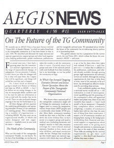AEGIS News, No. 13 (April, 1998)