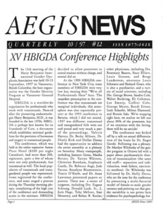 AEGIS News, No. 12 (October, 1997)