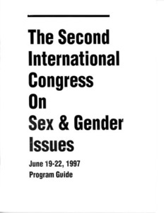 The Second International Congress on Sex & Gender Issues: Program Guide (June, 1997)