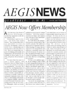 AEGIS News, No. 3 (March, 1995)