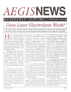 AEGIS News, No. 11 (August, 1997)