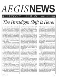 AEGIS News, No. 4 (June, 1995)