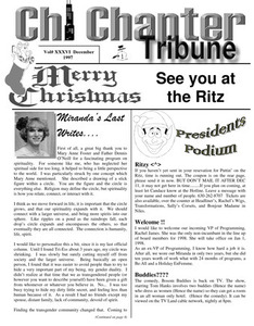 Chi Chapter Tribune Vol. 36 Iss. 12 (December, 1997)