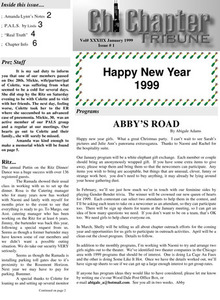 Chi Chapter Tribune Vol. 38 No. 01 (January, 1999)