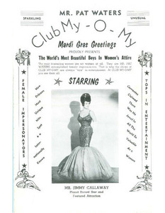 Mr. Pat Waters Club My-O-My Proudly Presents The World's Most Beautiful Boys in Women's Attire (4)