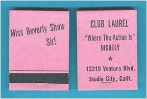 Club Laurel Matchbox