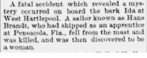 A Fatal Accident which Revealed a Mystery