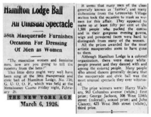 Hamilton Lodge Ball An Unusual Spectacle