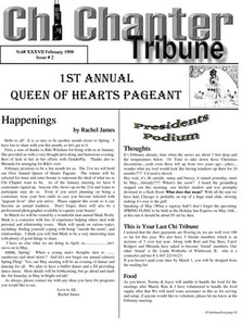 Chi Chapter Tribune Vol. 37 Iss. 02 (February, 1998)