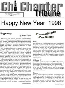 Chi Chapter Tribune Vol. 37 Iss. 01 (January, 1998)