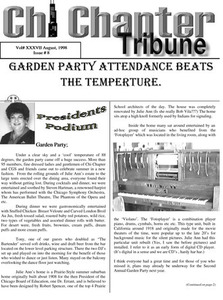 Chi Chapter Tribune Vol. 37 Iss. 08 (August, 1998)
