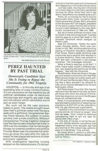 Perez Haunted by Past Trial