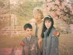 Eve Golden with Grandmother and Sister (1963)