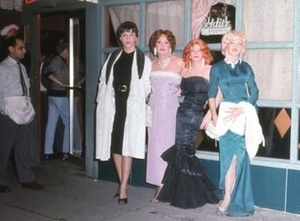 Four Drag Queens Outside The Colony (1959)