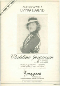 An Evening with a Living Legend: Christine Jorgensen
