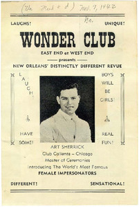 Wonder Club Presents New Orleans' Distinctly Different Revue: Boys will be Girls!