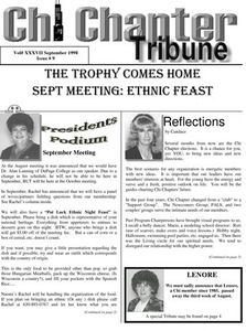 Chi Chapter Tribune Vol. 37 Iss. 09 (September, 1998)