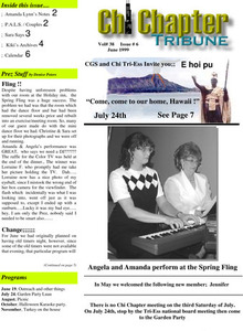 Chi Chapter Tribune Vol. 38 Iss. 06 (June, 1999)