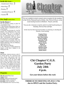 Chi Chapter Tribune Vol. 38 Iss. 07 (July, 1999)