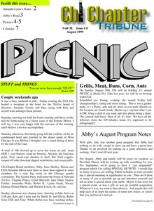 Chi Chapter Tribune Vol. 38 Iss. 08 (August, 1999)