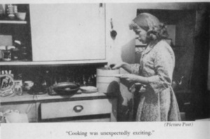 Roberta Cowell in the Kitchen