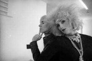 Candy Darling and Andy Warhol