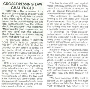 Cross-Dressing Law Challenged