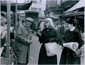 Roberta Cowell and Friend Shopping in French Market (April 22, 1954)