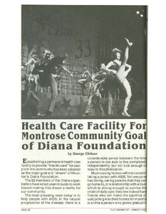 Health Care Facility For Montrose Community Goal of Diana Foundation