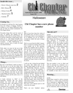 Chi Chapter Tribune Vol. 37 Iss. 10 (October, 1998)