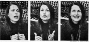 Three Still Images of Wendy Carlos