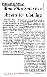 Man Files Suit Over Arrests for Clothing
